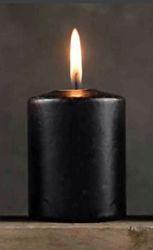 Черная приворотная свеча